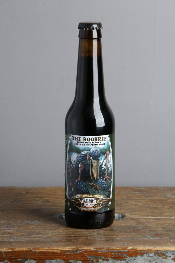Whisky barrel-aged Imperial Stout in a 330ml bottle from Amager Brewery