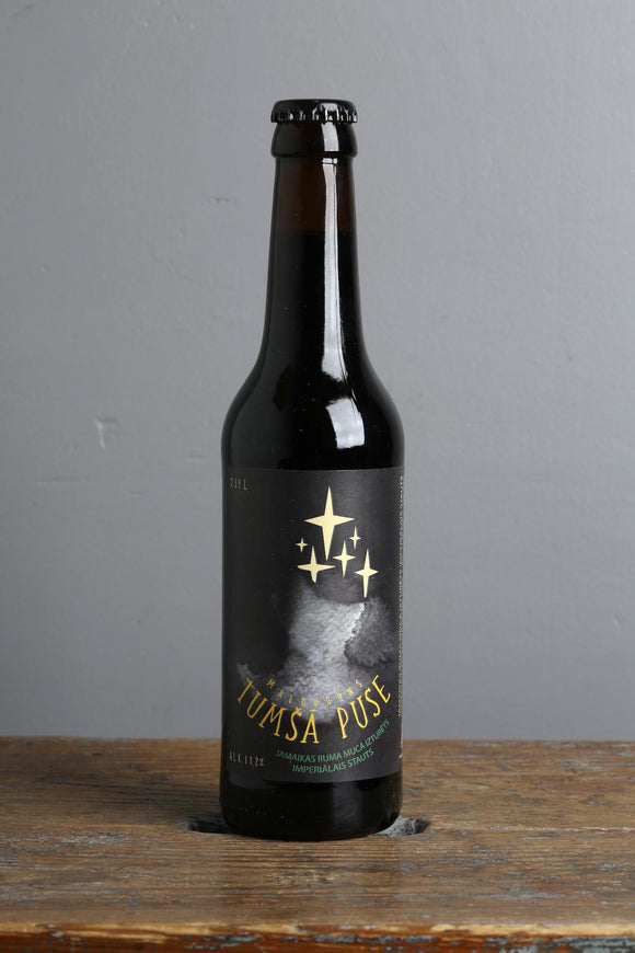 Barrel aged imperial stout from Latvia