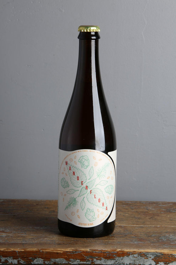 Wild fermentation beer with nettles and fennel from Jester King, USA