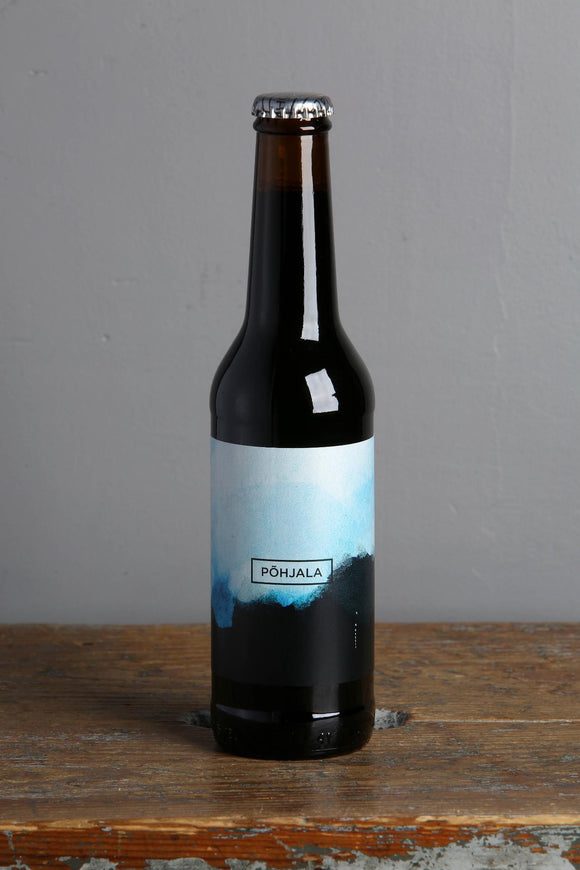 A 330 ml  bottle of Pohjala's Winter Banger Imperial Stout.