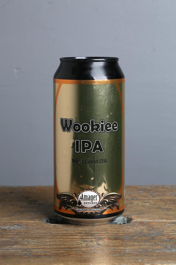 Wookie IPA from Denmark. Loads o West Coast hops in a 440 ml can