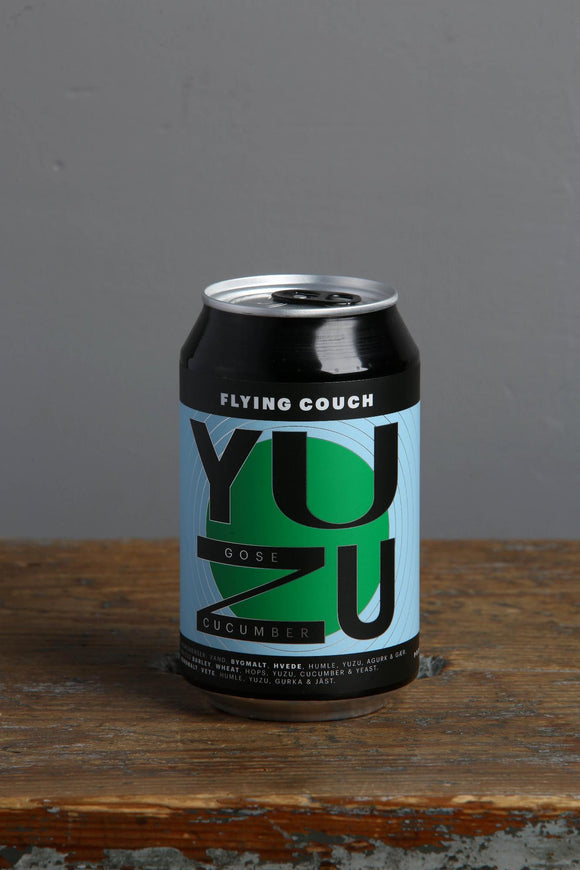 Flying Couch Microbrewery Yuzu Gose with Cucumber. 330 ml can