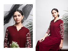 Load image into Gallery viewer, Maroon Kurta Set