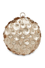 Load image into Gallery viewer, Floral embroidered round clutch