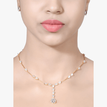 Load image into Gallery viewer, PEAR SOLITAIRE NECKLACE - APART - WITH EARRINGS - 18K GOLD POLISH