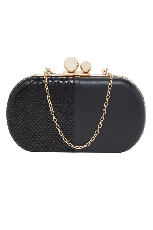 Pure Leather Clutch (Black)