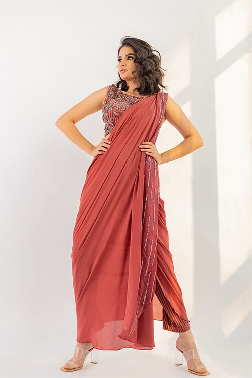 Draped saree
