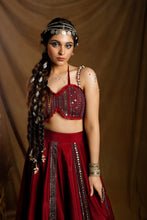 Load image into Gallery viewer, Wine Lehenga With Blouse