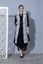 Load image into Gallery viewer, Cowl dress with cut sleeve jacket