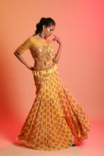 Load image into Gallery viewer, Mustard Draped Saree