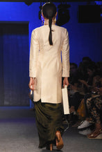 Load image into Gallery viewer, Cream Jacket with dhoti pants