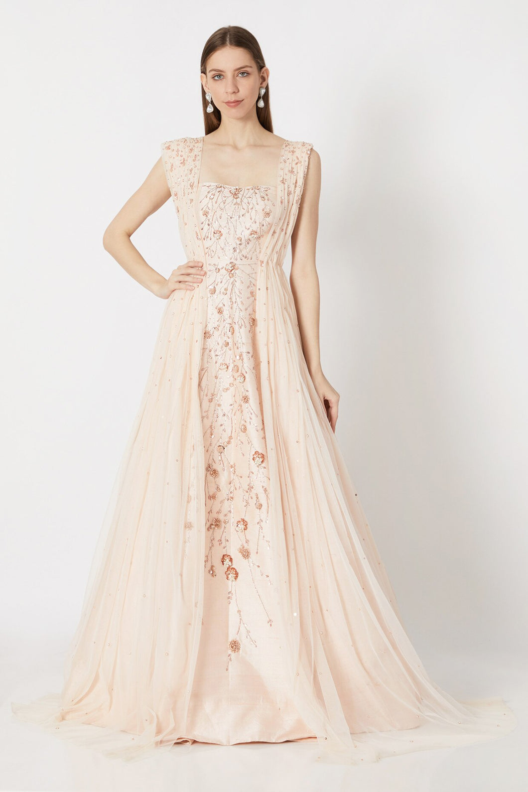Peach Pink Gown