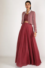 Load image into Gallery viewer, Brown Lehenga Set