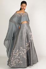 Load image into Gallery viewer, Grey Lehenga Set