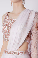 Load image into Gallery viewer, Lilac Saree Set