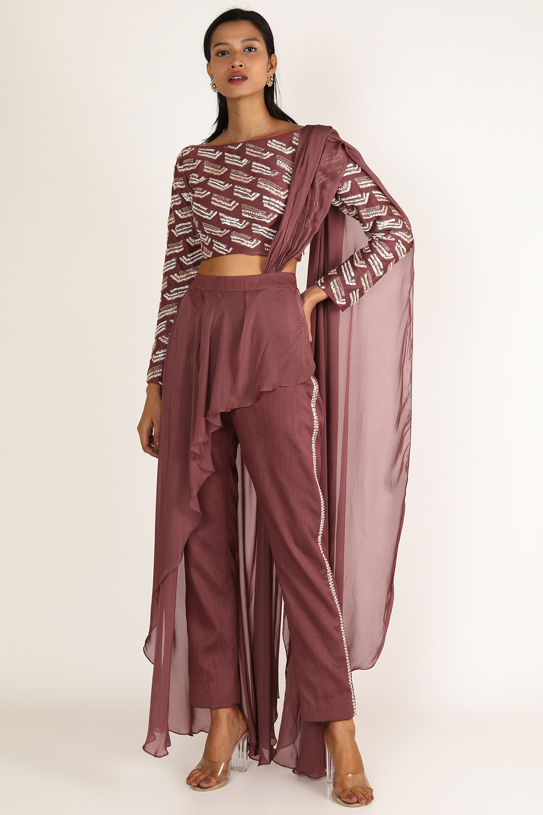 Brick Brown Saree