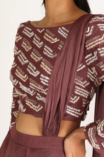 Load image into Gallery viewer, Brick Brown Saree