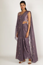 Load image into Gallery viewer, Purple Saree