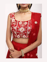 Load image into Gallery viewer, Deep red Lehenga