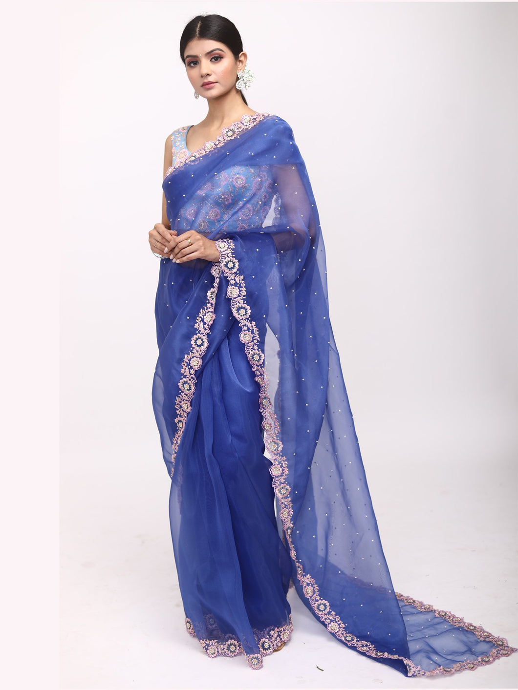 Capri Blue Saree