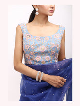 Load image into Gallery viewer, Capri Blue Saree
