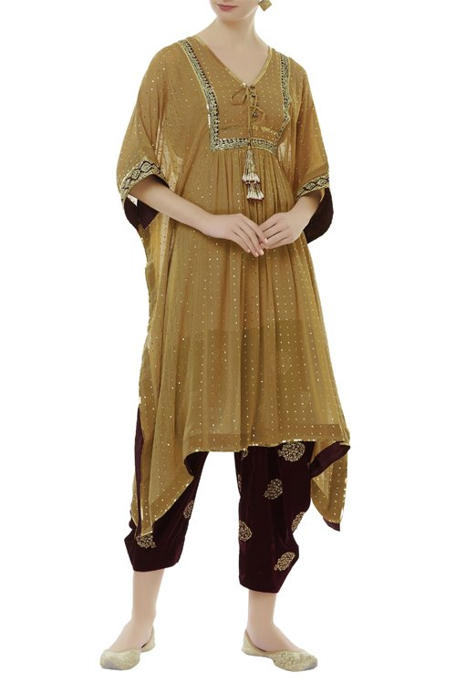 Embroidered dhoti kurta set