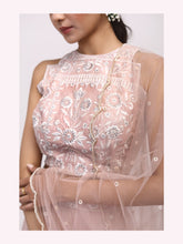 Load image into Gallery viewer, BLUSH PINK SAREE SET