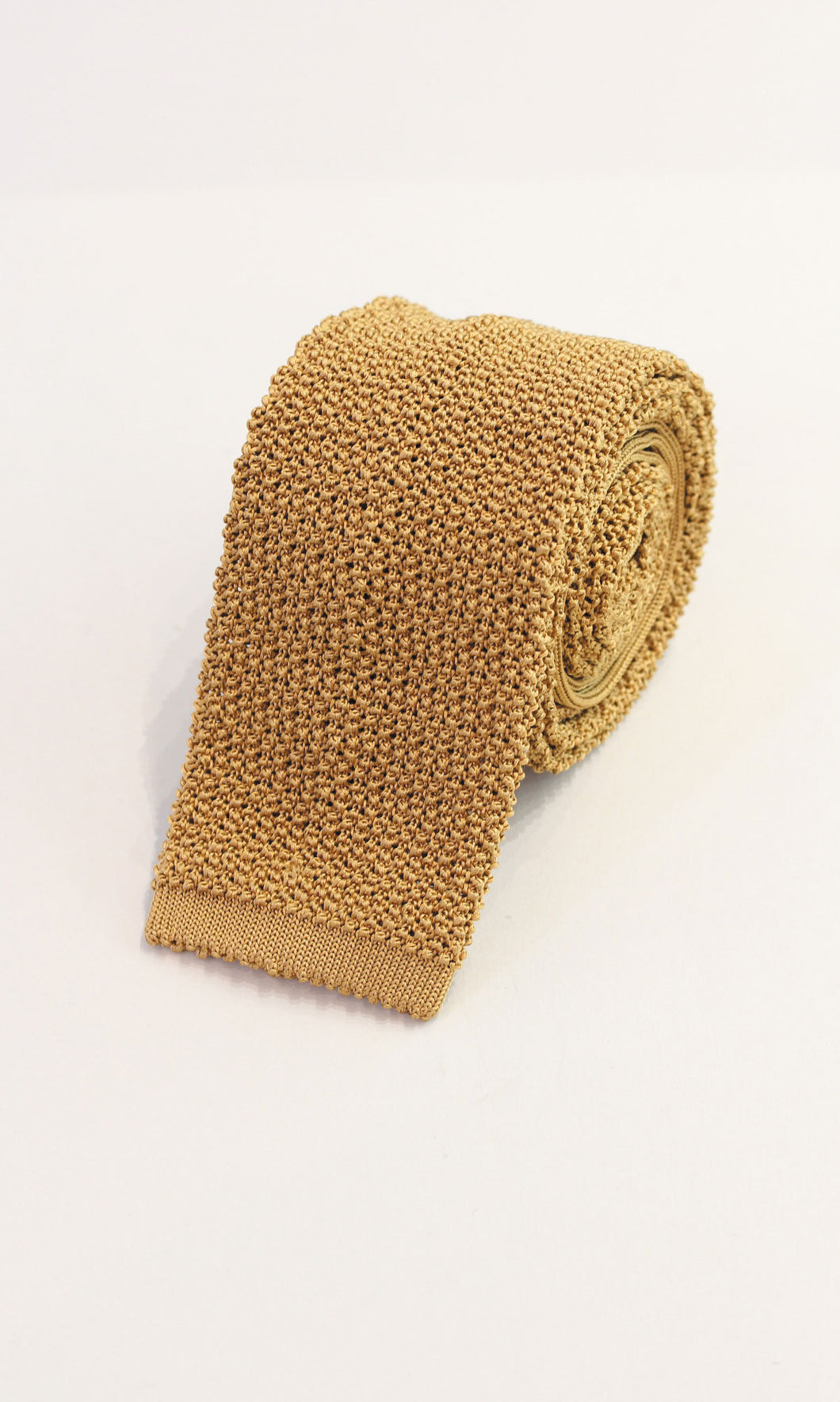 Knitted Silk Tie (Gold)