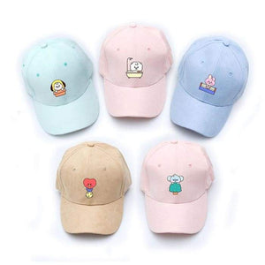 BTS BT21 Character Cute Color Cap - Hat