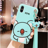 BTS BT21 Character Rubber Phone Case - KOYA / iPhone 6/6s - BT21