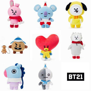 Bts Bt21 Christmas Standing Doll Plushies - All 8 Characters (20% Off) - Bt21
