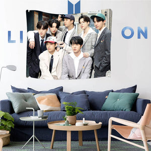 BE Life Goes On Design Hanging Cloth Poster - Bangtanmania | BTS Merchandise Shop | BTS Clothings & Accessories