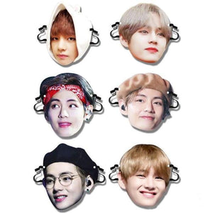 BTS Kim Taehyung Bias Face Mask - Accessories