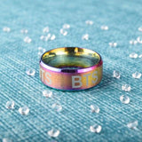 BTS Logo Laser Ring - MULTICOLOR - Accessories
