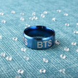 BTS Logo Laser Ring - BLUE - Accessories