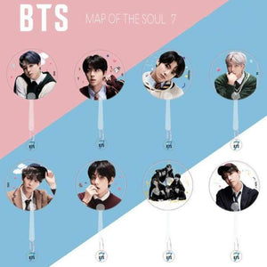 BTS Map Of The Soul: 7 Transparent Hand Fan - Hand Fan