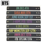 Bts Member Birthday Silicone Bracelet - Accessories