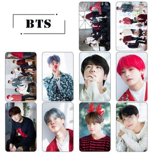 BTS Member Christmas Concept Crystal Card Sticker - Photocard