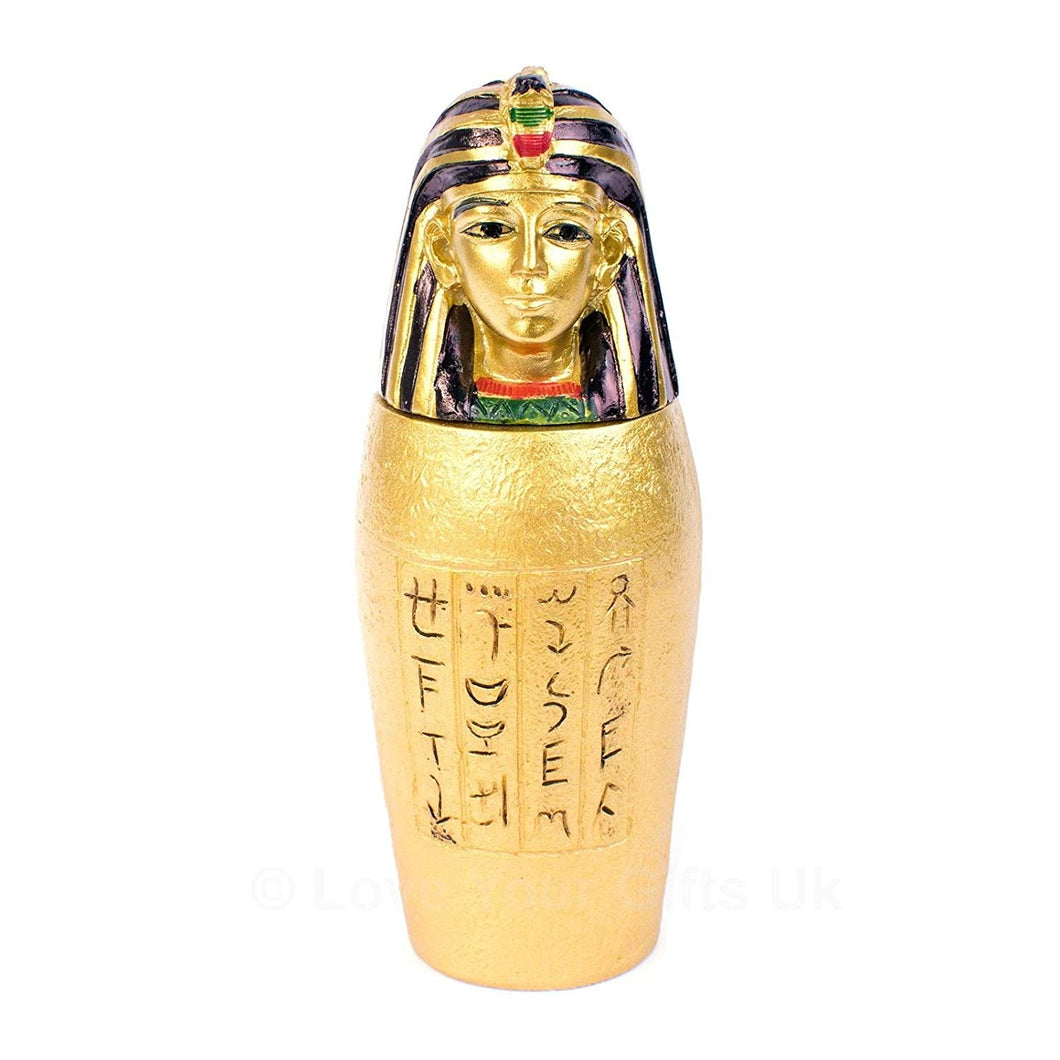 Gold Egyptian Canopic Jar Imsety (man-headed) Cultural Gifts.