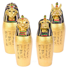 Load image into Gallery viewer, Gold Egyptian Canopic Jar Qebehsenuef (hawk head). Cultural Gifts