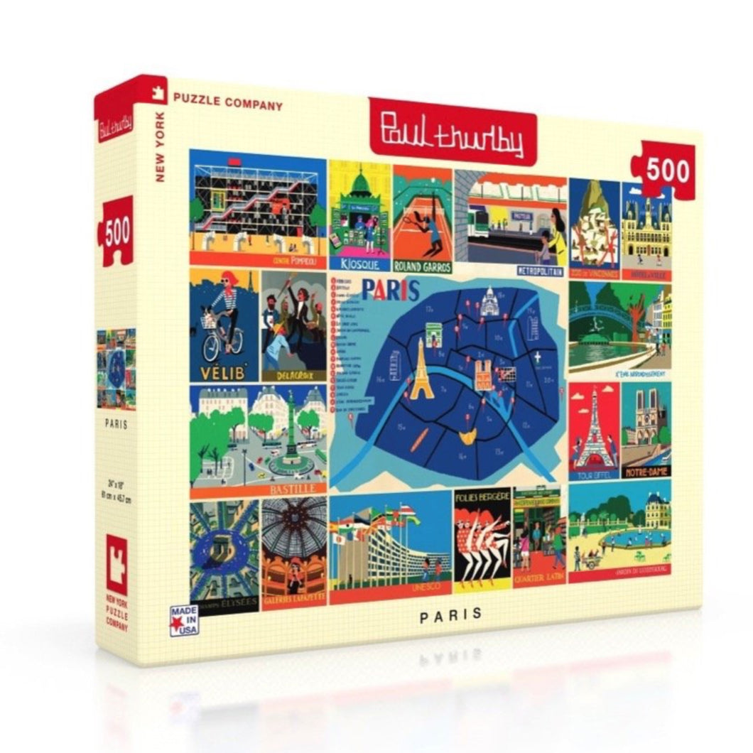Paris Collage 500 Piece Jigsaw Puzzle - New York Puzzle Company