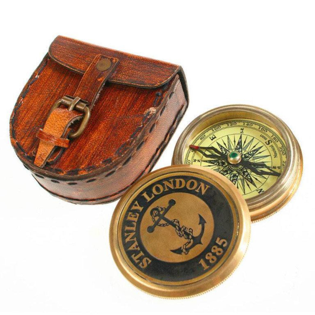 Explorer Compass in Leather Case Fair Trade