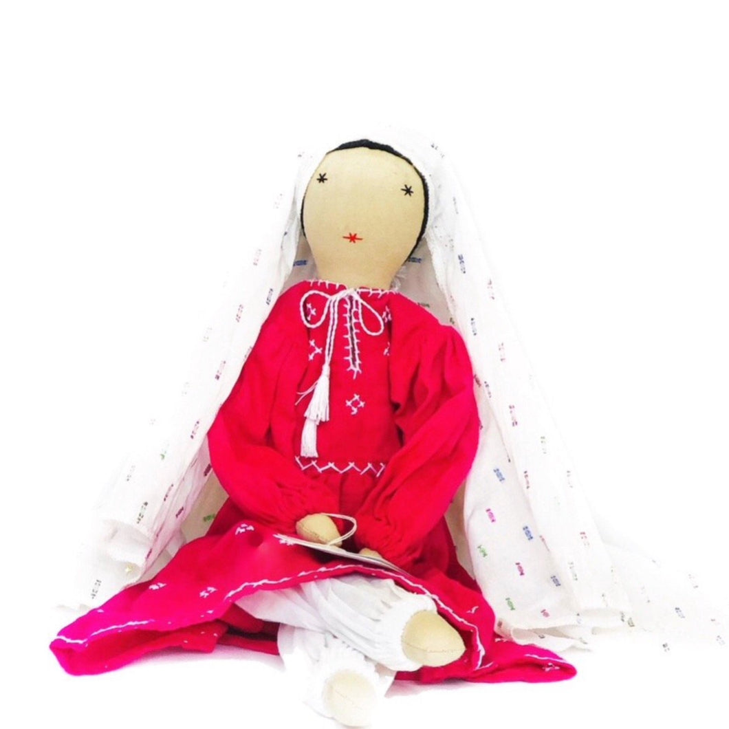 Afghan Lady with White Veil Doll - Fair Trade & Handmade