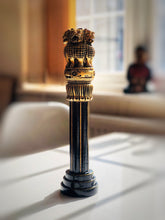 Load image into Gallery viewer, Handmade Wooden India Ashoka Pillar Painted 30cm