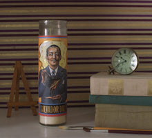 Load image into Gallery viewer, Salvador Dalí Secular Saint Candle By The Unemployed Philosophers Guild
