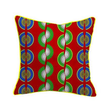 Load image into Gallery viewer, African Textile Printed Cushion Cover. Handmade. Home Arts Decorative