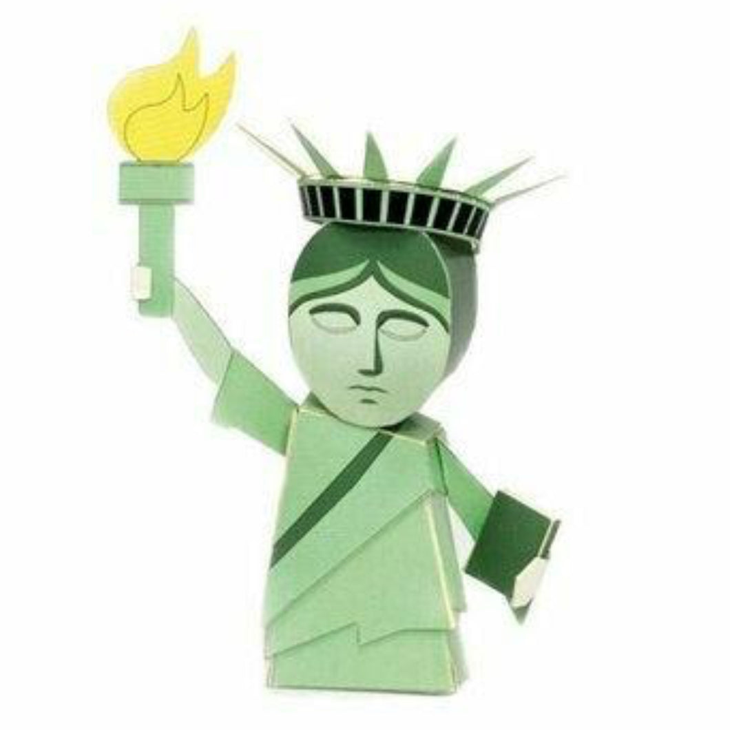 Statue of Liberty Paper Model Postcard. Fun Gifting