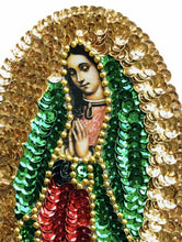 Load image into Gallery viewer, Sewing patch Virgen de Guadalupe 15 cm - Mexican Art Handmade