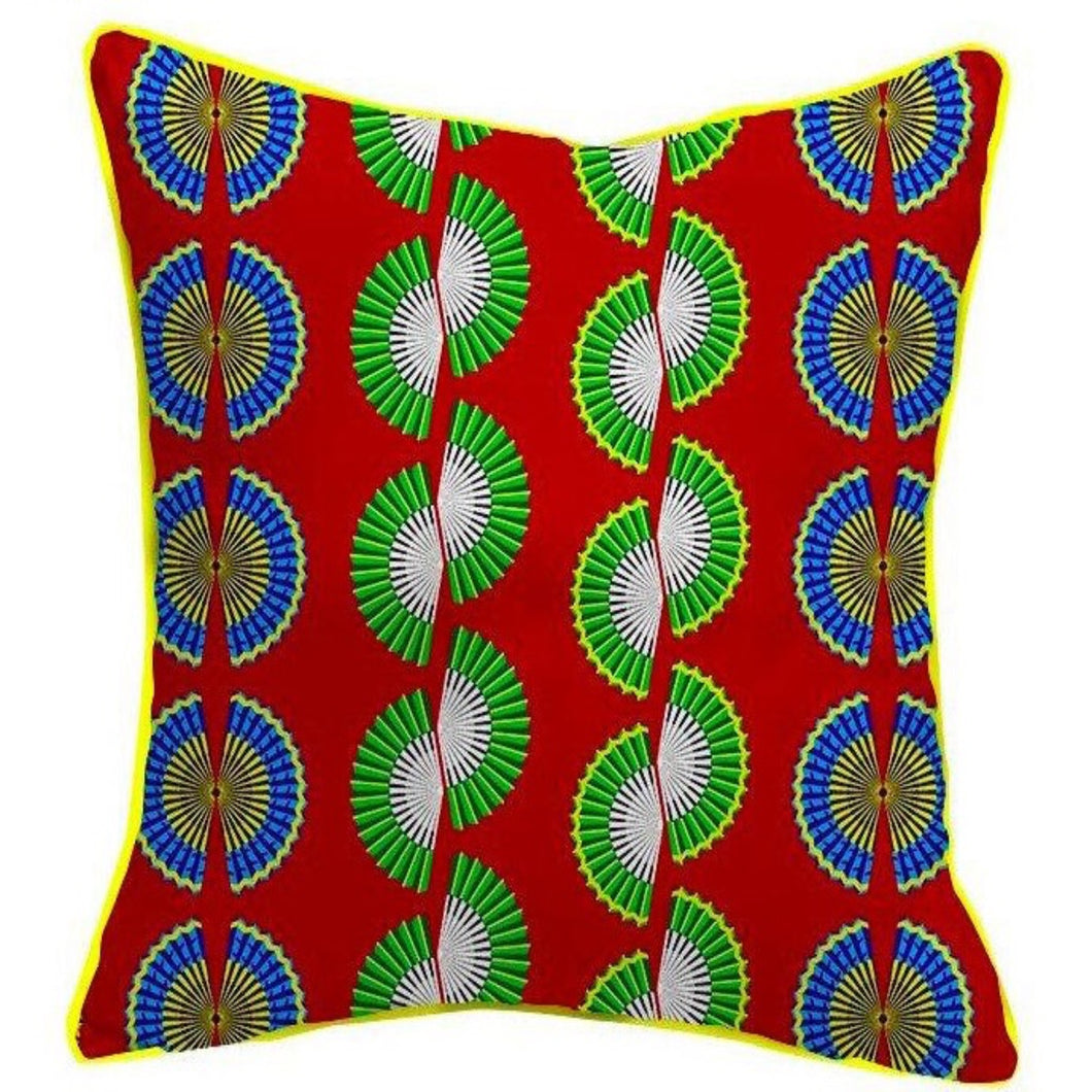 African Textile Printed Cushion Cover. Handmade. Home Arts Decorative