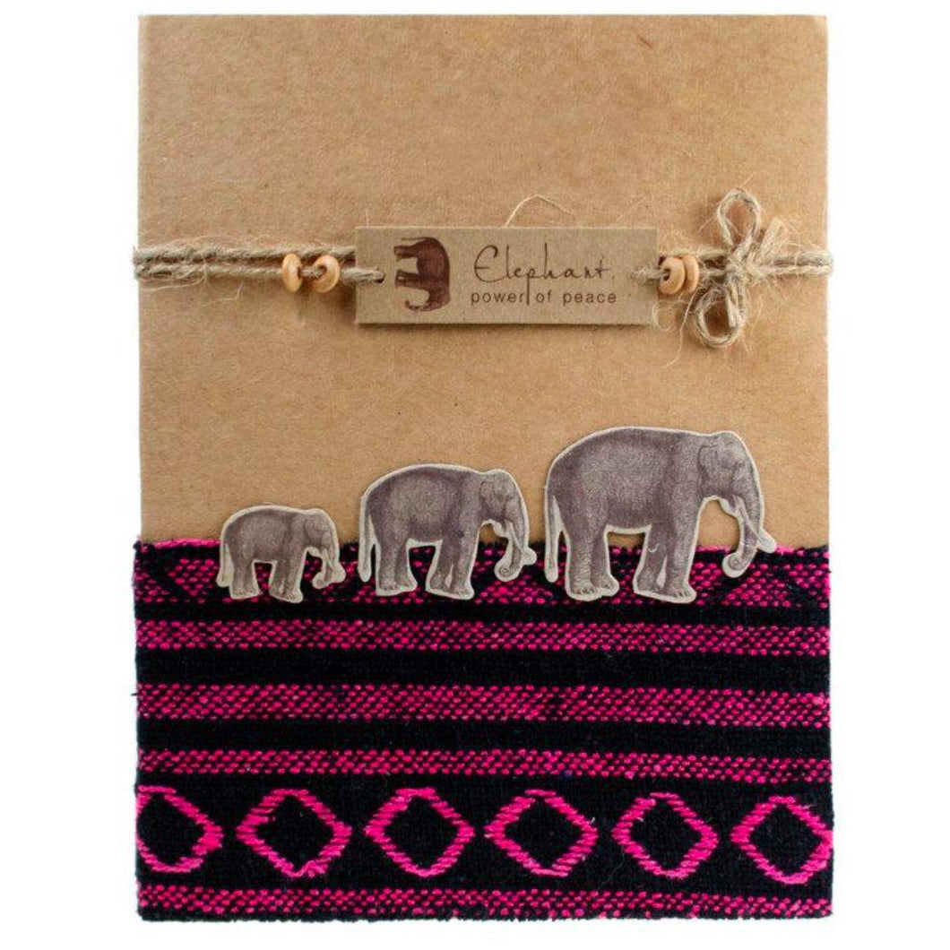 Fair Trade Notebook with Elephants - 15 x 19cm Approx